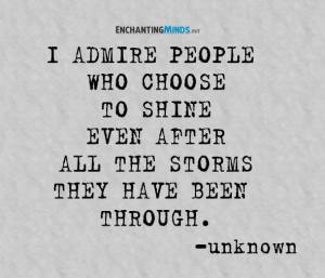 people who choose to shine