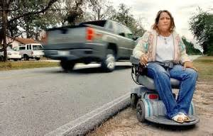 wheelchair and kerb