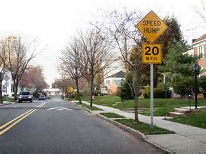 speed humps and sign