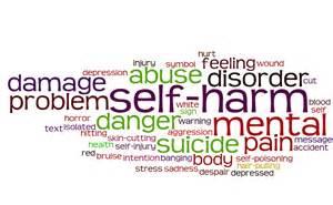 self harm word chart