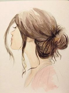 sideways view girl with hair in bun blog