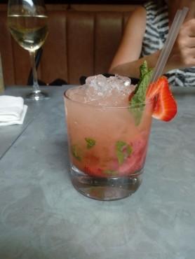 Strawberry, elderflower & mint cocktail at The Bootmaker